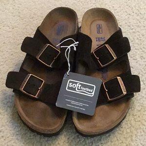 Birkenstock Arizona Suede soft sandals 240 7 N